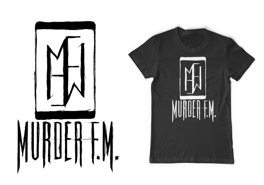 Poster design needed - Dallas Texas Hard Rock Band Murder F M Needed A New Logo To Match Their New Image After Working With Positive Design Company On Previous Merchandise